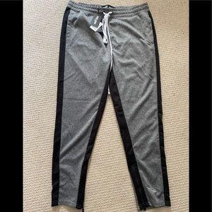 Rebel Minds Tricot Grey/Black Slim Fit Trackpants